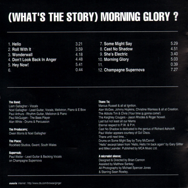 Listado de canciones de What's the story... de Oasis