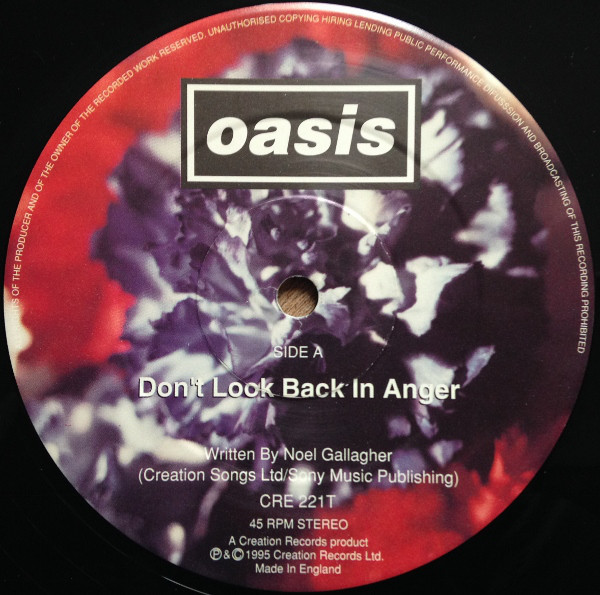 Disco del sencillo Don't look back in anger
