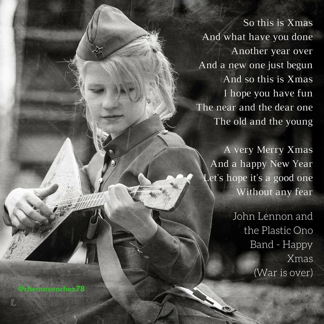 Letra de Happy Xmas de Lennon