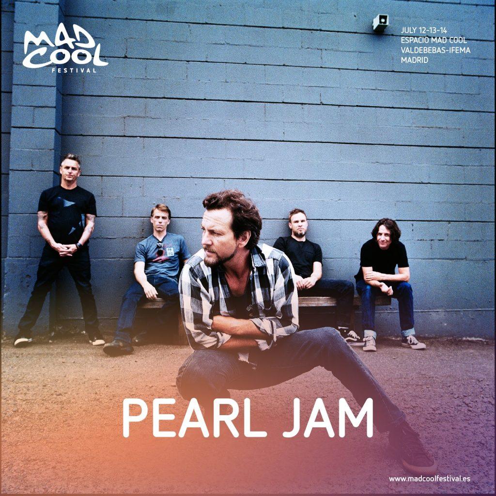 Cartel anunciador del concierto de Pearl Jam en el Mad Cool Festival