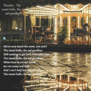 Tip de la canción de Roxette The Sweet Hello, The Sad Goodbye