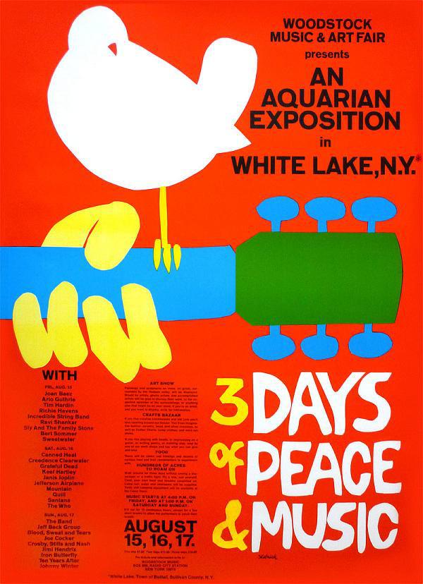 Portada de Woodstock 3 days of peace