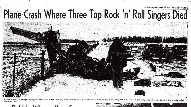 Los tres músicos fallecieron en un accidente de avión