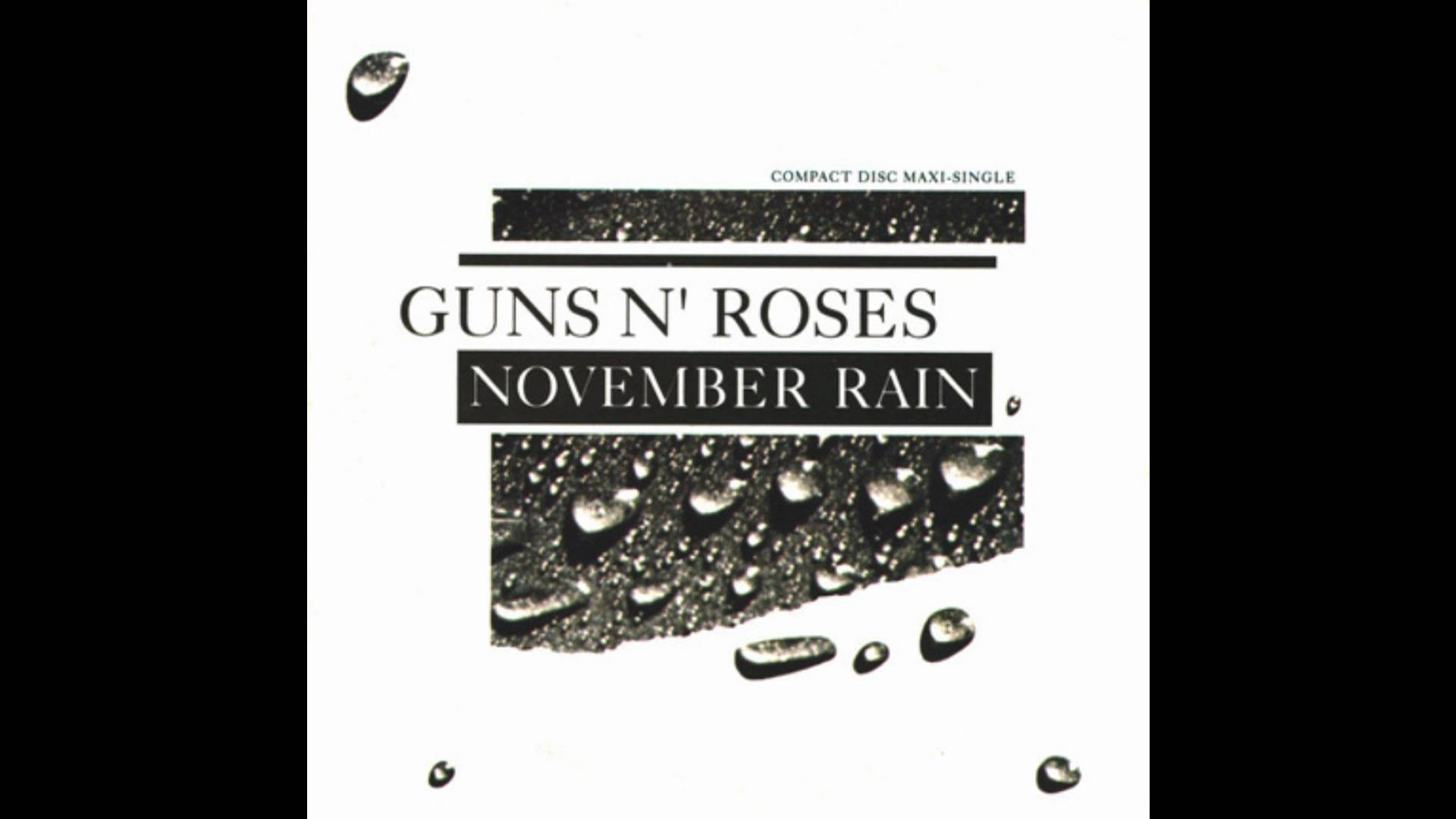 El sencillo de November Rain, en CD