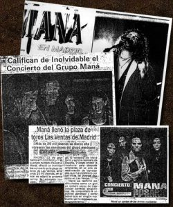 El grupo mexicano Maná en conciertos en España
