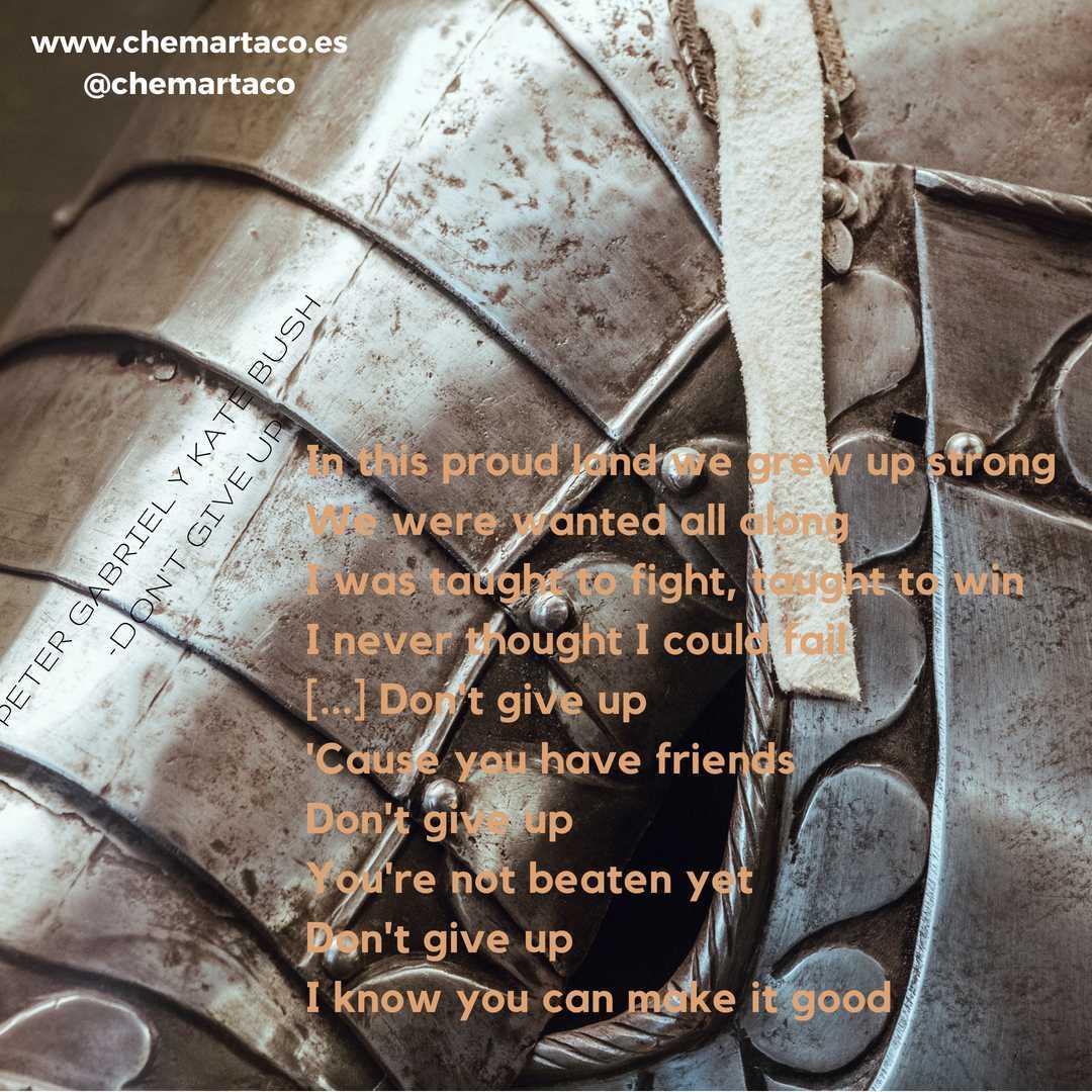 Peter Gabriel letra de Don't Give Up