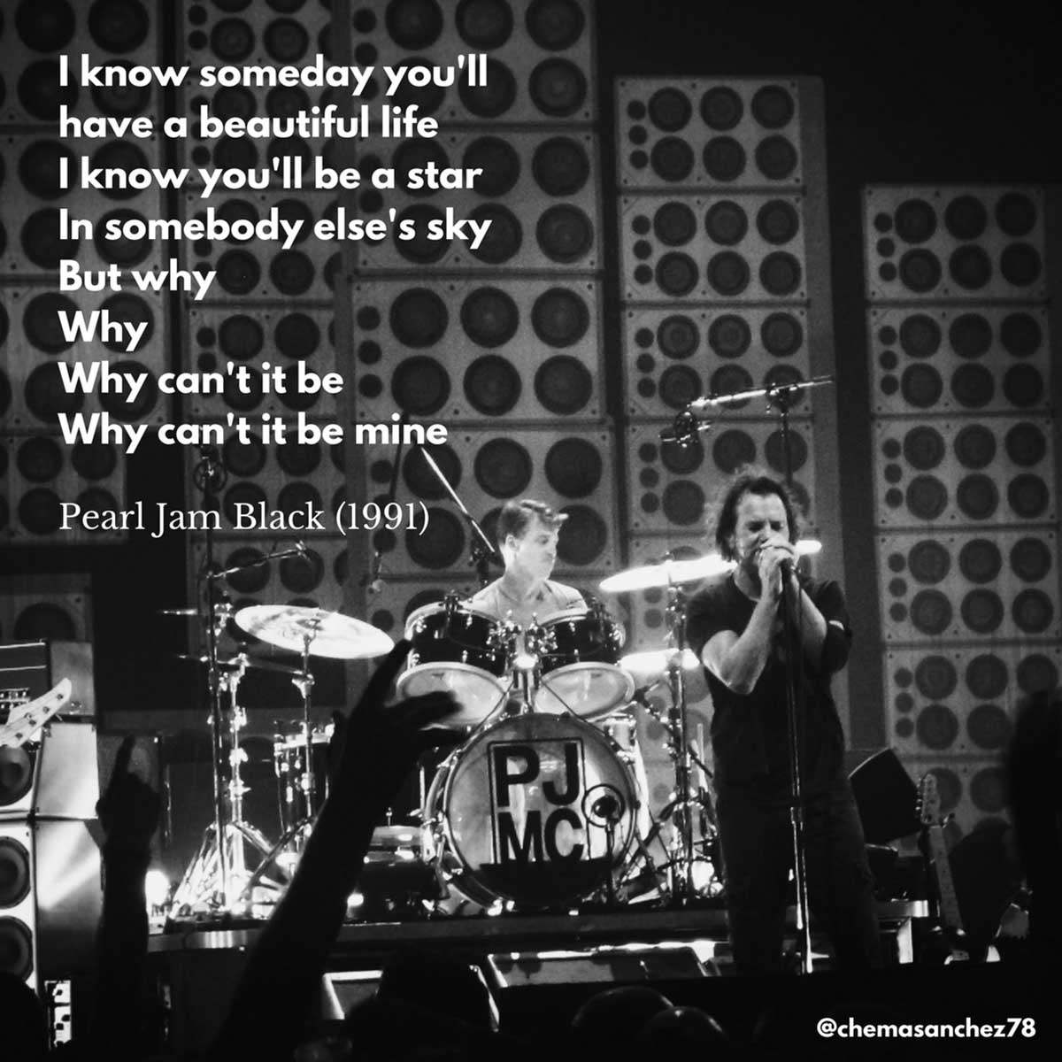 Tip para Instagram de la canción Black, de Pearl Jam