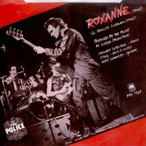 """Contraportada del sencillo """"Roxanne"""""""