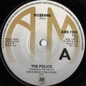 Interior del disco Roxanne de Police
