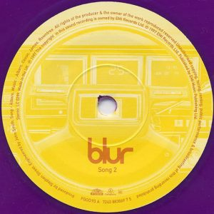 Interior del sencillo de Song 2 de Blur