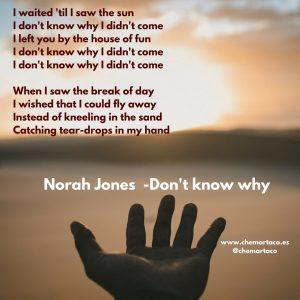 Tip de instagram Norah Jones Dont know why