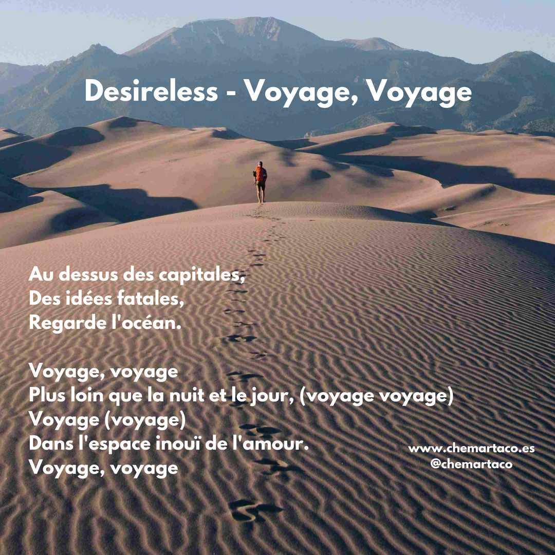 Letra de Voyage voyage