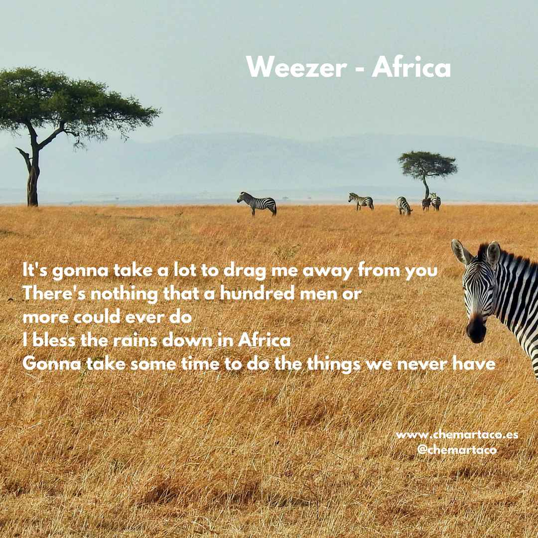 Tip de instagram sobre Africa de Weezer