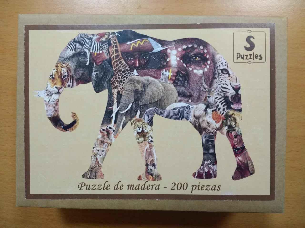 Caja del puzzle del elefante