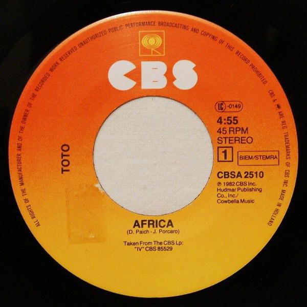 Single de Africa, de Toto