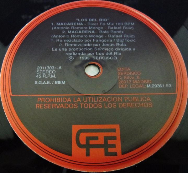 Interior del single de Macarena