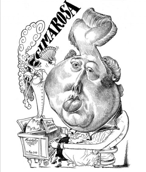 Caricatura de Cimarosa