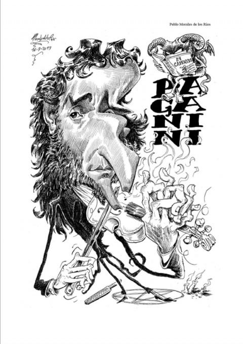 Caricatura de Paganini