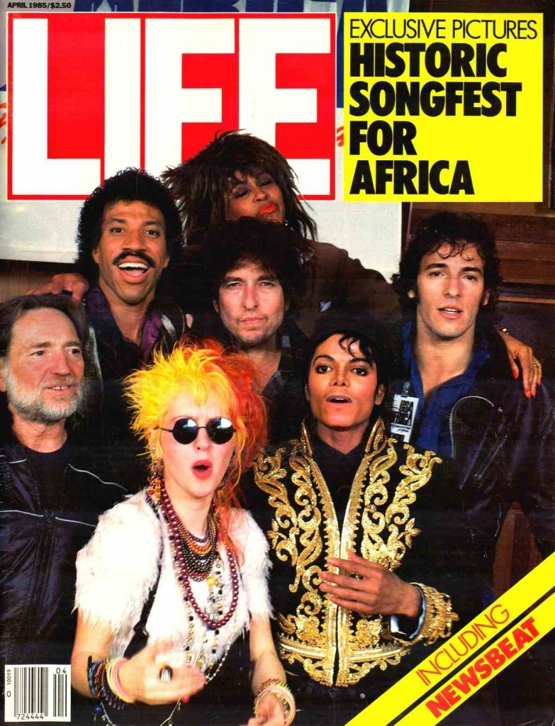 Portada de la revista Life con We are the world