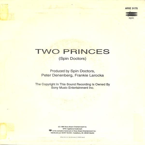 Trasera del single Two princes