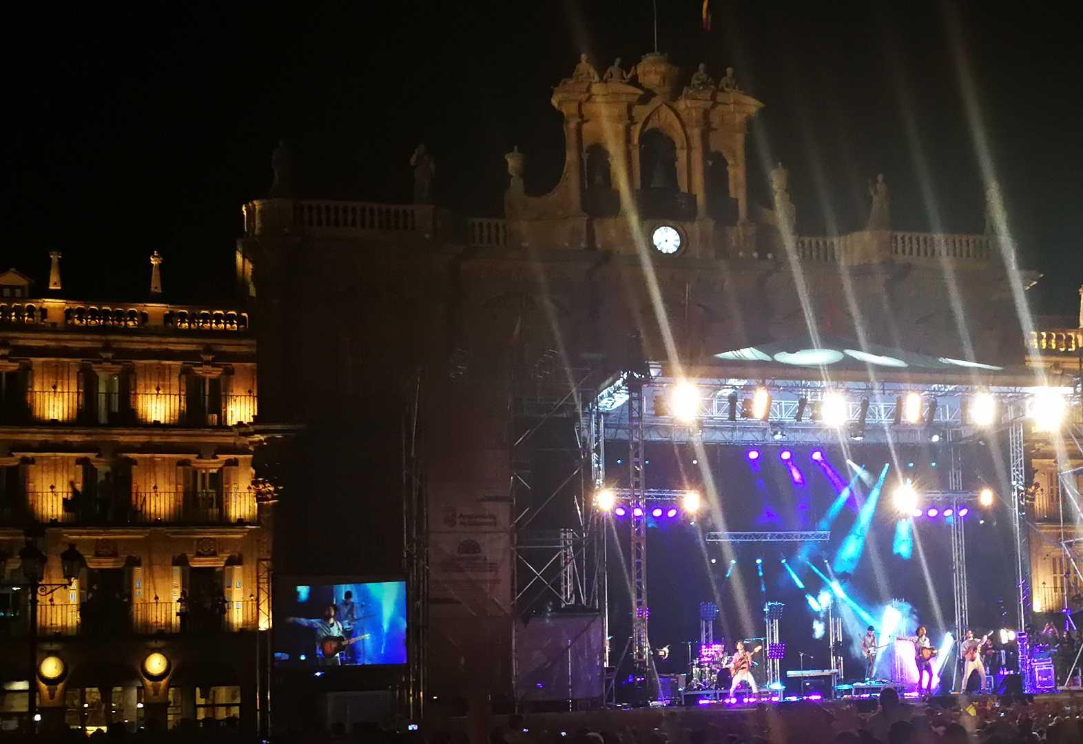 Un momento del concierto celebrado en Salamanca por Morat
