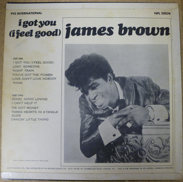 Interior del sencillo de James Brown