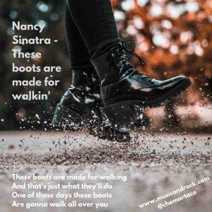 Tip de instagram con la letra de Nancy Sinatra