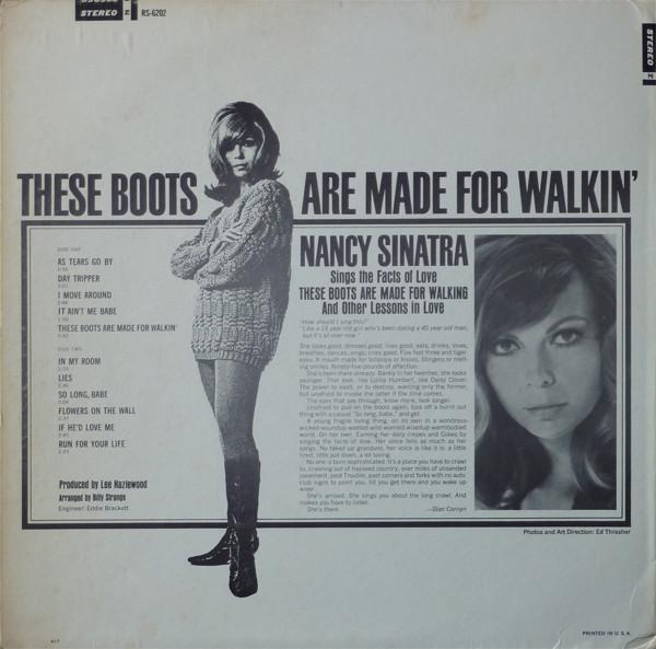 Interior del disco Boots de Nancy Sinatra
