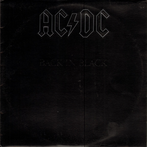 Portada del disco Back in Black de AC DC