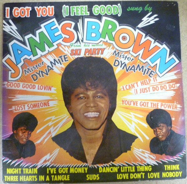 Portada de uno de los discos recopilatorios de James Brown