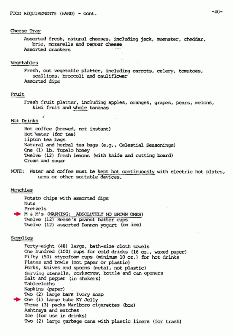 Detalle de las claúsulas que exigían Van Halen en sus contratos