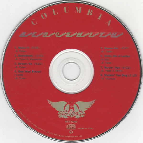 Aerosmith, el disco, en CD