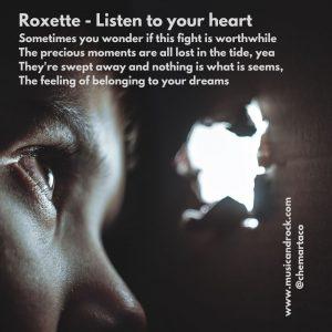 Imagen para instagram de Listen to your heart, de Roxette