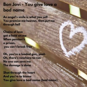 Bon Jovi You give love a bad name-compressed