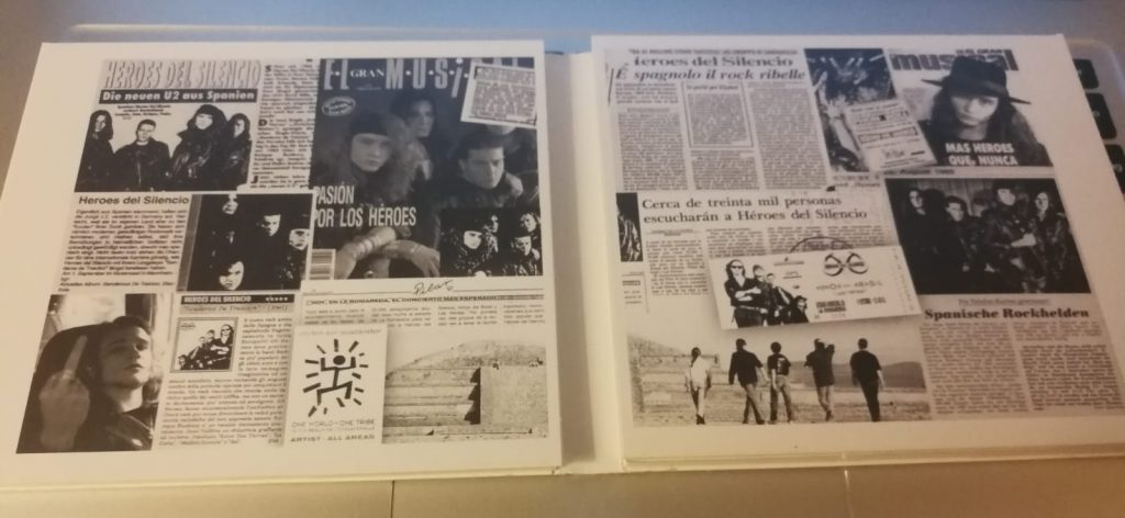 Interior del disco conmemorativo de Senderos de Traición, remasterizado en 2006