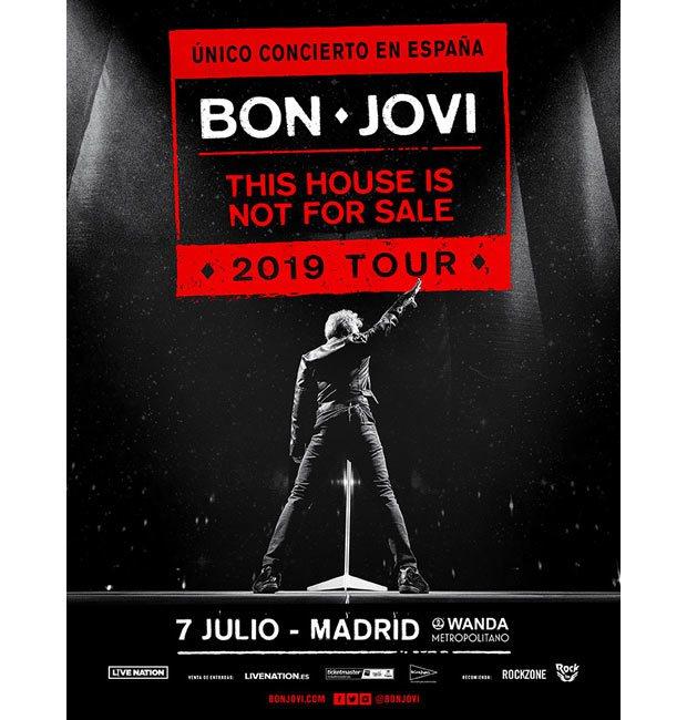 Cartel de Bon Jovi 2019