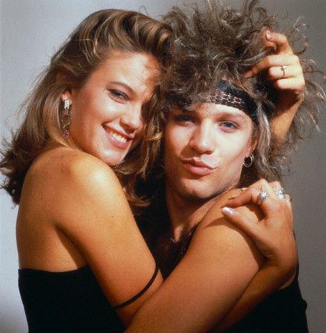 Bon Jovi con su novia por entonces, Diane Lane