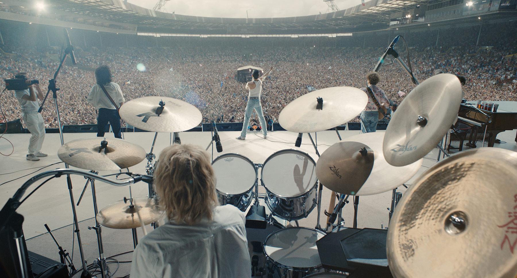 Otra imagen de la ficticia actuación en Live Aid