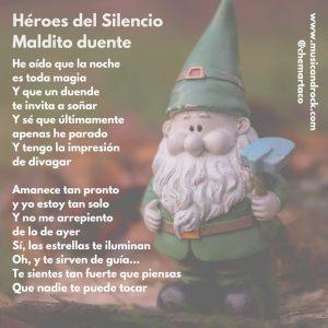 Tip instagram - Letra de Maldito Duende, de Héroes del Silencio