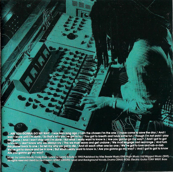 Interior del disco, con Lenny a los mandos de la producción