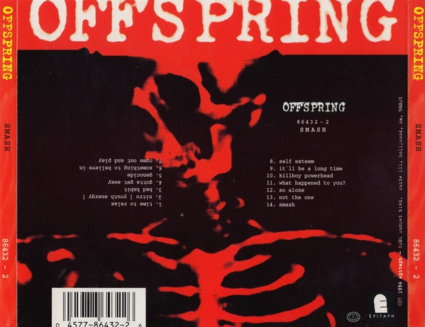 Contraportada de The Offspring Smash