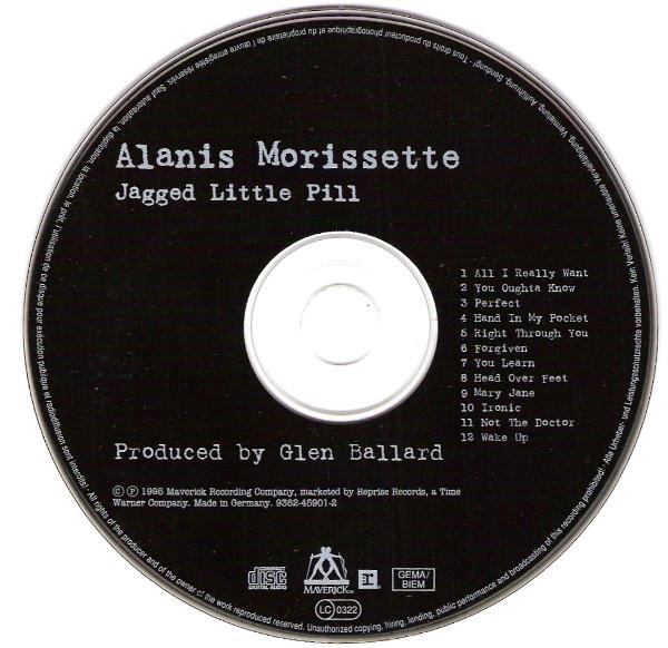 Disco compacto de Jagged Little Pill de Alanis Morissette