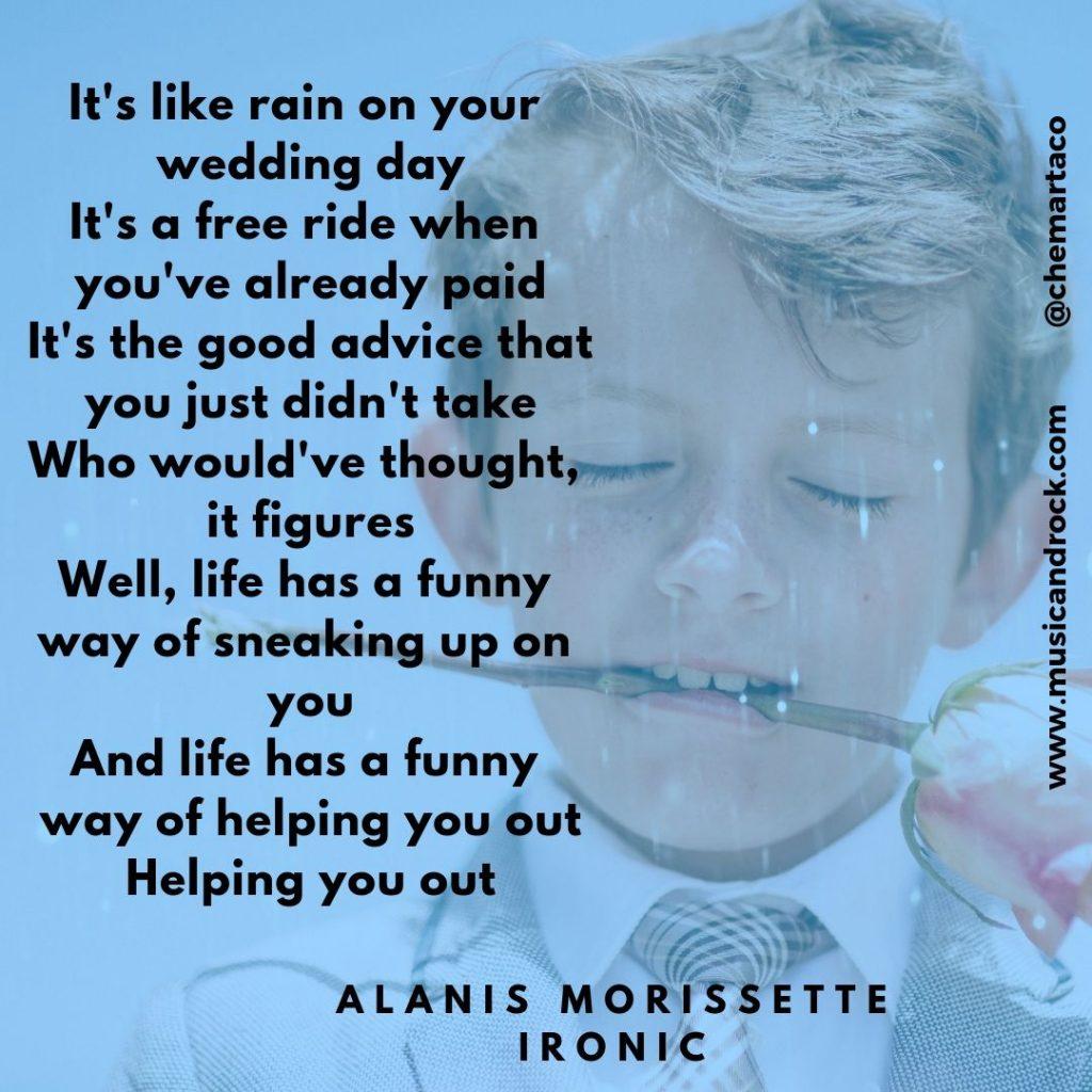 Letra de Ironic, de Alanis Morissette