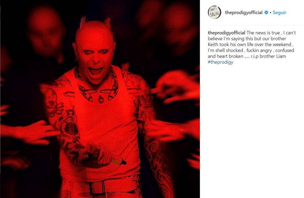 La confirmación del deceso, vía Instagram