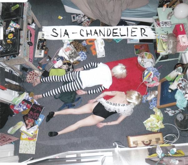 Portada del single Chandelier. Un collage la mar de raro