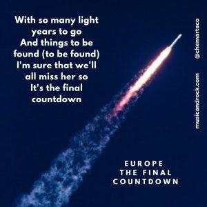Europe Final Countdown letras