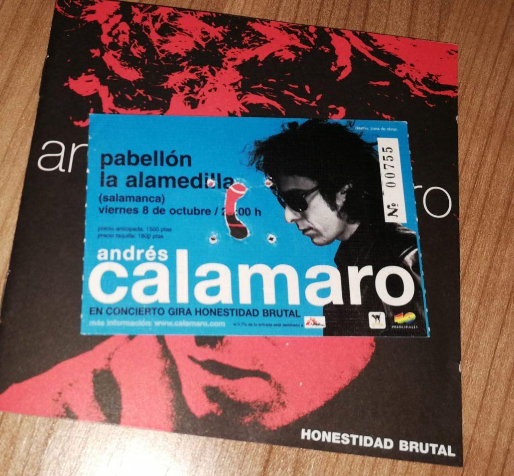 Entrada concierto Andrés Calamaro 1999