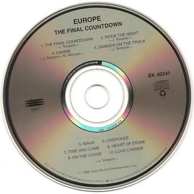 Interior del disco - CD