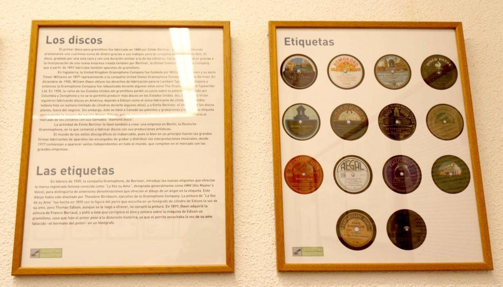 Apartado sobre discos del Centro Etnográfico
