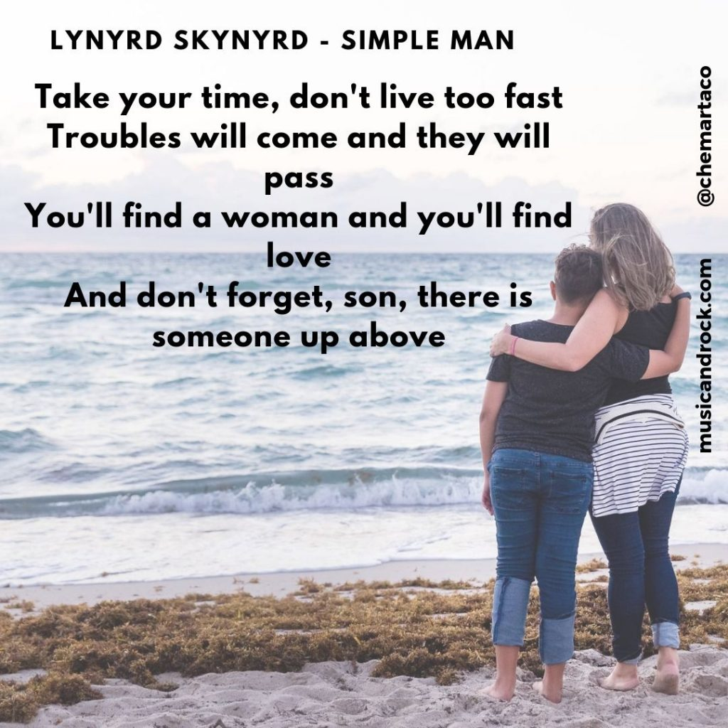 Tip instagram Simple man de Lynyrd Skynyrd